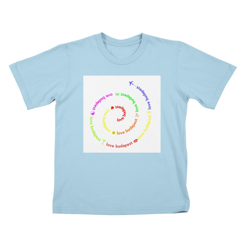 Love Budapest, colors Kids T-shirt by ALMA VISUAL's Artist Shop