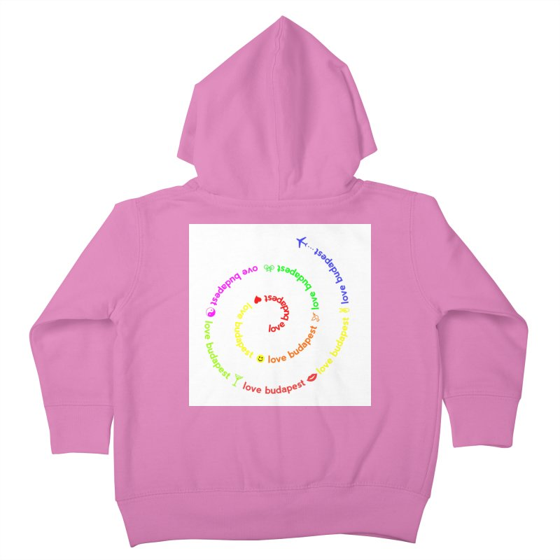 Love Budapest, colors Kids Toddler Zip-Up Hoody by ALMA VISUAL's Artist Shop