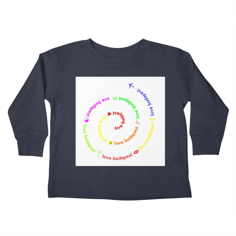 Love Budapest, colors Kids Toddler Longsleeve T-Shirt by ALMA VISUAL's Artist Shop