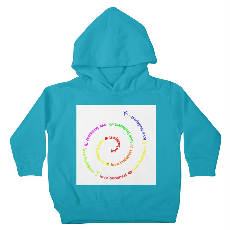 Love Budapest, colors Kids Toddler Pullover Hoody by ALMA VISUAL's Artist Shop