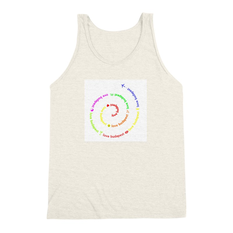 Love Budapest, colors Men's Triblend Tank by ALMA VISUAL's Artist Shop