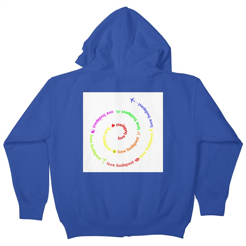 Love Budapest, colors Kids Zip-Up Hoody by ALMA VISUAL's Artist Shop