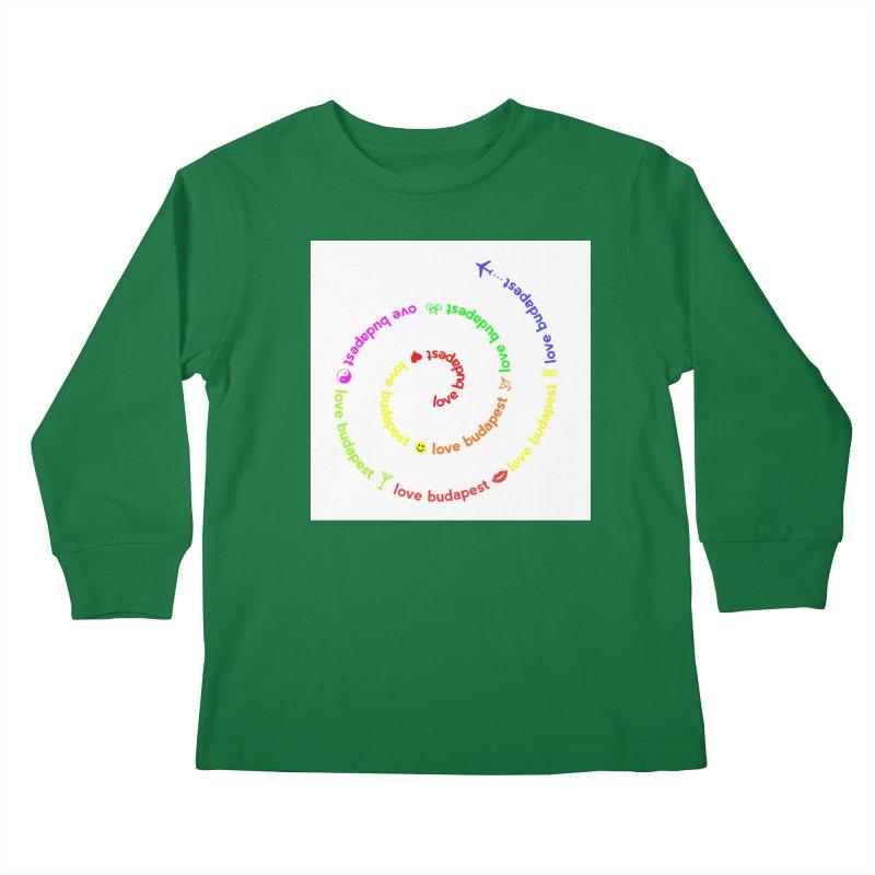 Love Budapest, colors Kids Longsleeve T-Shirt by ALMA VISUAL's Artist Shop