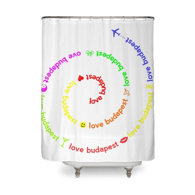 Love Budapest, colors Home Shower Curtain by ALMA VISUAL's Artist Shop