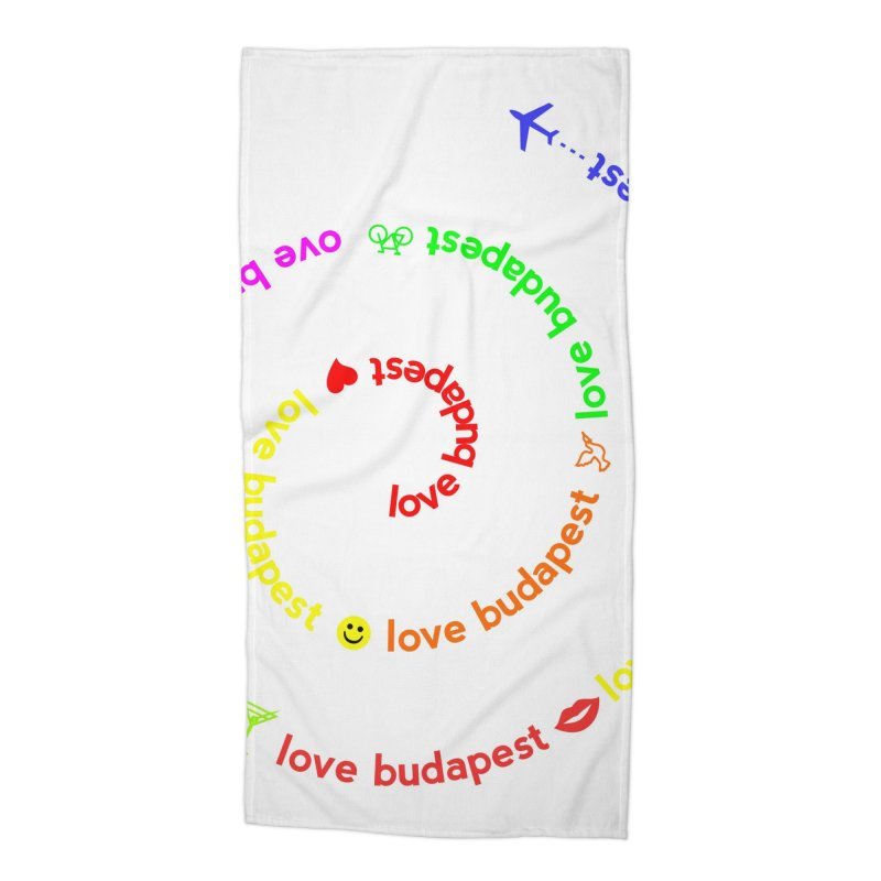 Love Budapest, colors Accessories Beach Towel by ALMA VISUAL's Artist Shop