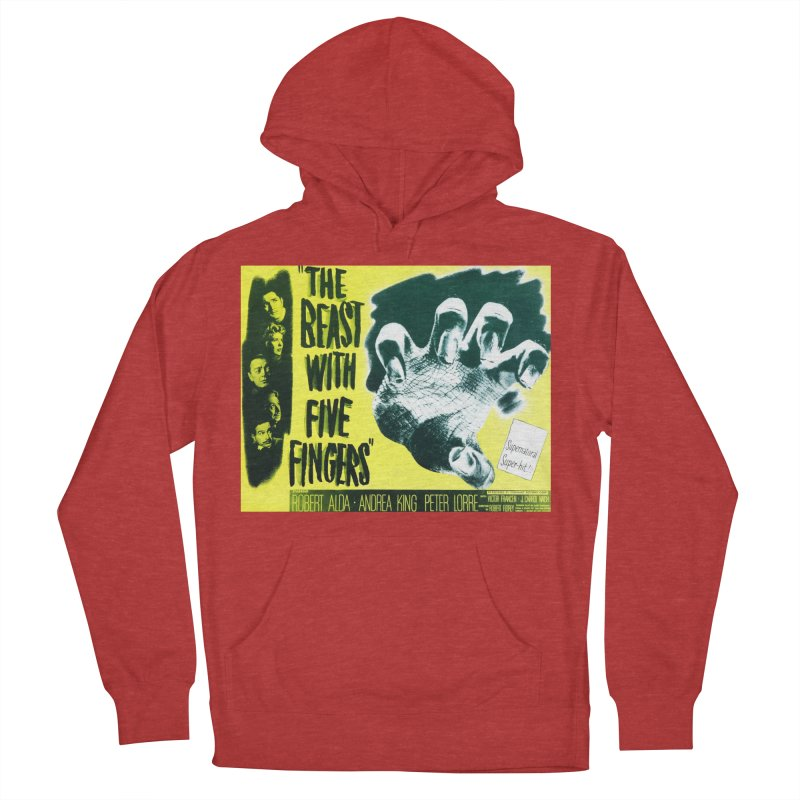 The Beast with five fingers, vintage horror movie poster Men's Pullover Hoody by ALMA VISUAL's Artist Shop