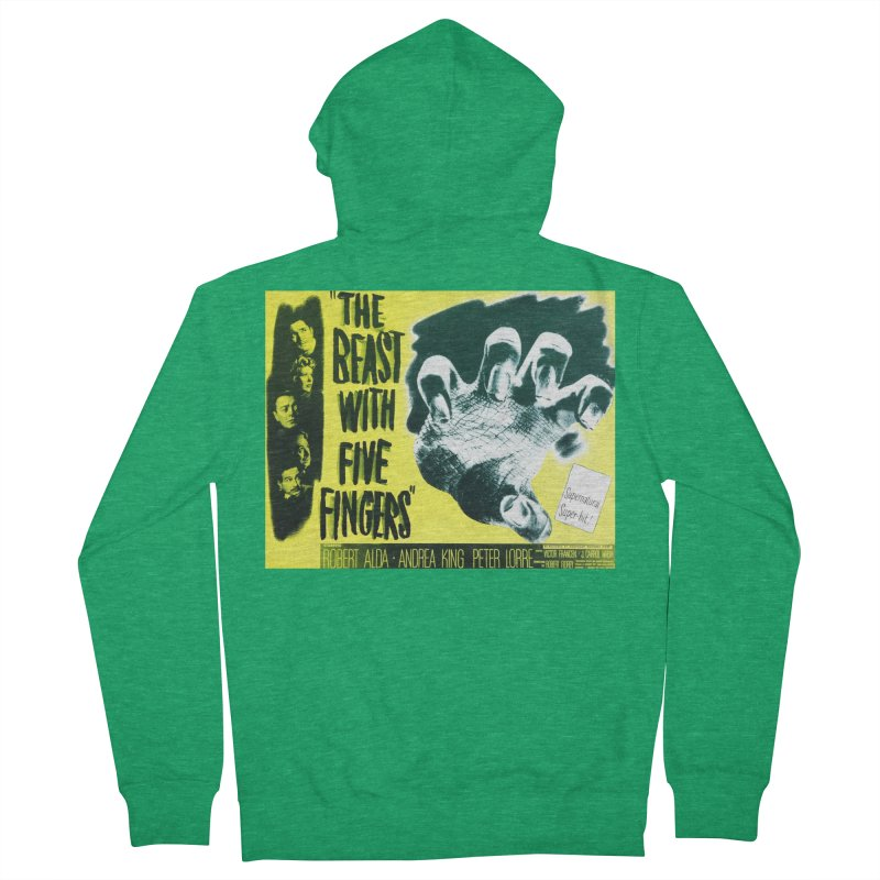 The Beast with five fingers, vintage horror movie poster Men's Zip-Up Hoody by ALMA VISUAL's Artist Shop