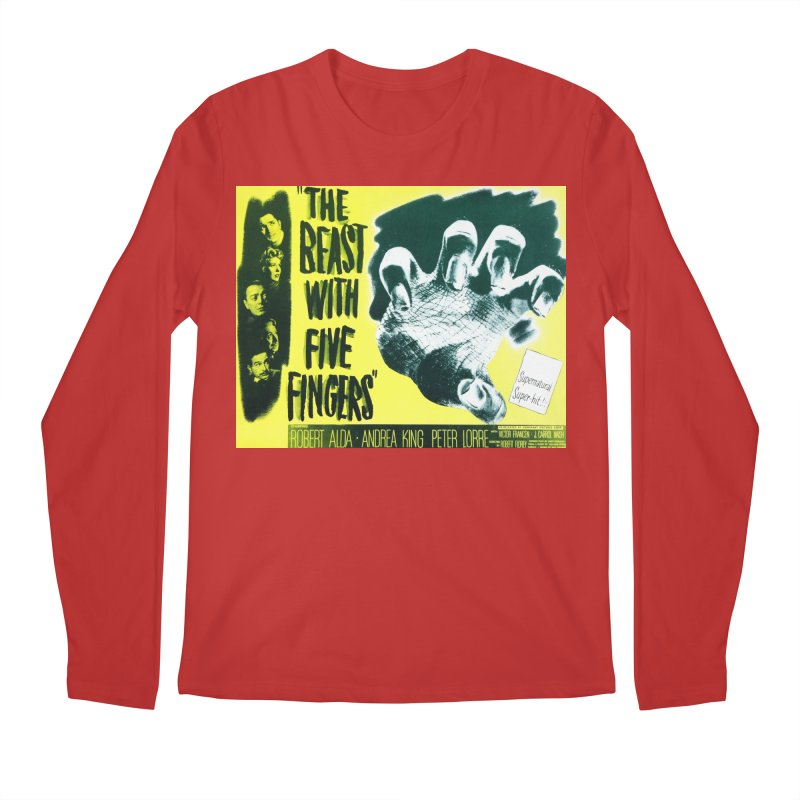 The Beast with five fingers, vintage horror movie poster Men's Longsleeve T-Shirt by ALMA VISUAL's Artist Shop