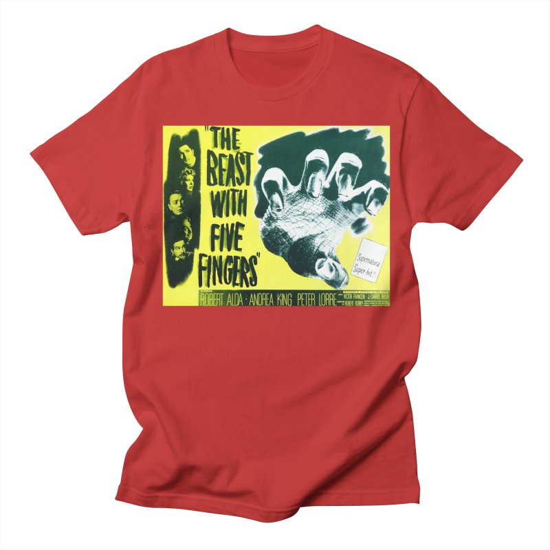 The Beast with five fingers, vintage horror movie poster Men's T-shirt by ALMA VISUAL's Artist Shop