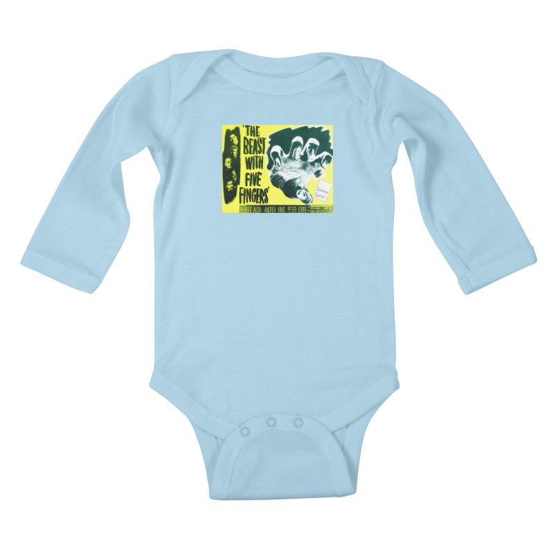 The Beast with five fingers, vintage horror movie poster Kids Baby Longsleeve Bodysuit by ALMA VISUAL's Artist Shop