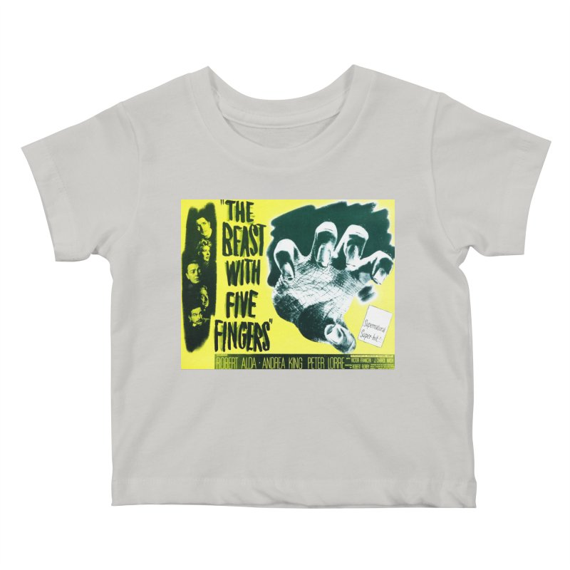 The Beast with five fingers, vintage horror movie poster Kids Baby T-Shirt by ALMA VISUAL's Artist Shop