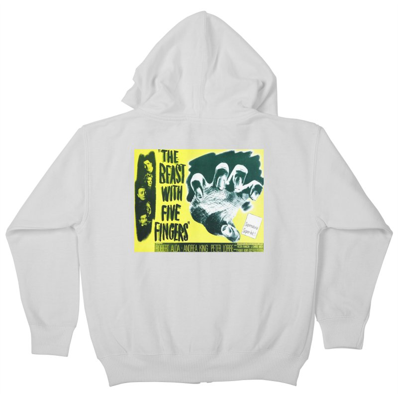 The Beast with five fingers, vintage horror movie poster Kids Zip-Up Hoody by ALMA VISUAL's Artist Shop