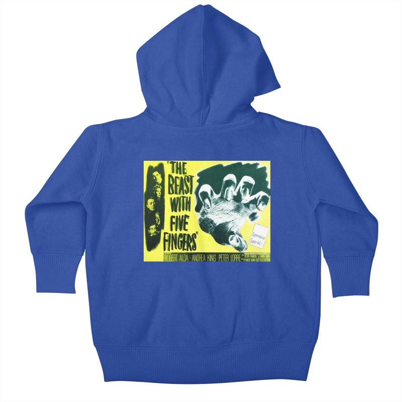 The Beast with five fingers, vintage horror movie poster Kids Baby Zip-Up Hoody by ALMA VISUAL's Artist Shop