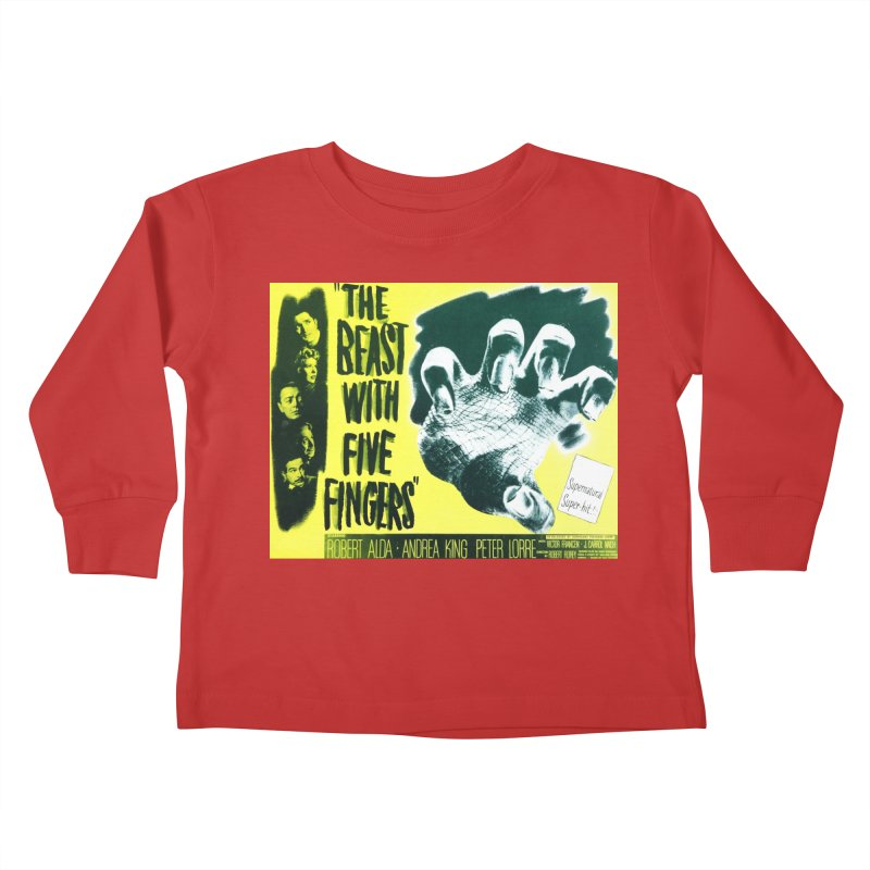 The Beast with five fingers, vintage horror movie poster Kids Toddler Longsleeve T-Shirt by ALMA VISUAL's Artist Shop