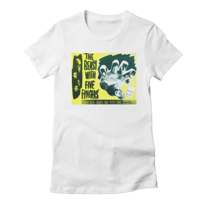 The Beast with five fingers, vintage horror movie poster Women's Fitted T-Shirt by ALMA VISUAL's Artist Shop