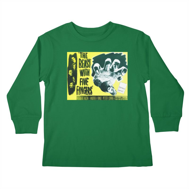 The Beast with five fingers, vintage horror movie poster Kids Longsleeve T-Shirt by ALMA VISUAL's Artist Shop