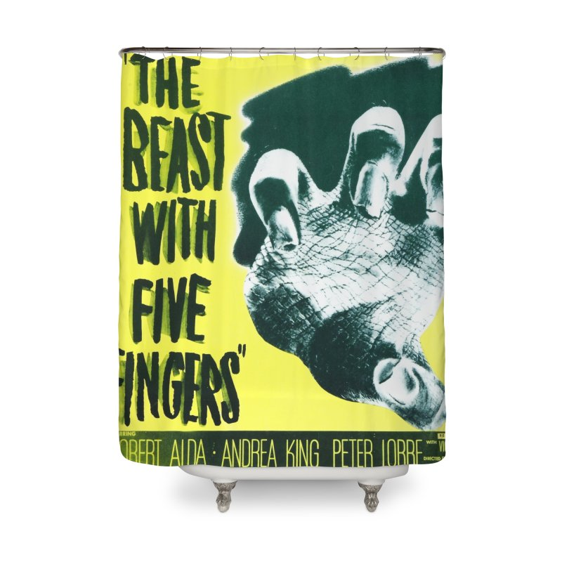 The Beast with five fingers, vintage horror movie poster Home Shower Curtain by ALMA VISUAL's Artist Shop