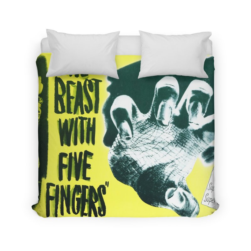 The Beast with five fingers, vintage horror movie poster Home Duvet by ALMA VISUAL's Artist Shop