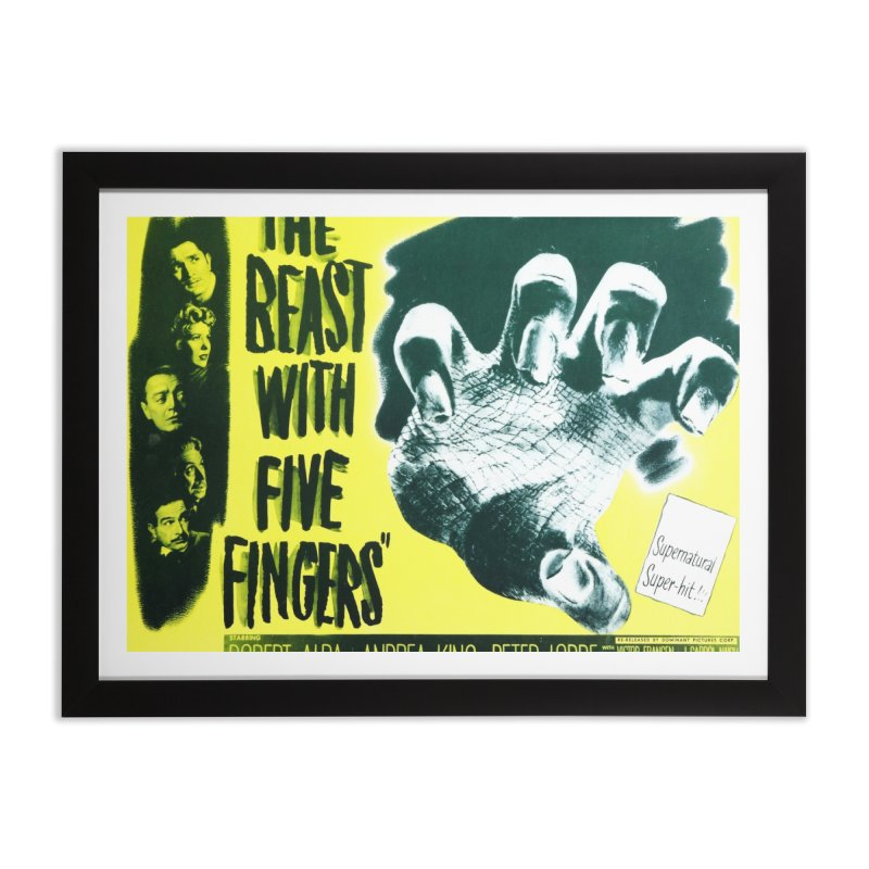 The Beast with five fingers, vintage horror movie poster Home Framed Fine Art Print by ALMA VISUAL's Artist Shop
