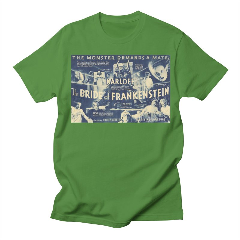 Bride of Frankenstein, vintage horror movie poster Men's T-shirt by ALMA VISUAL's Artist Shop