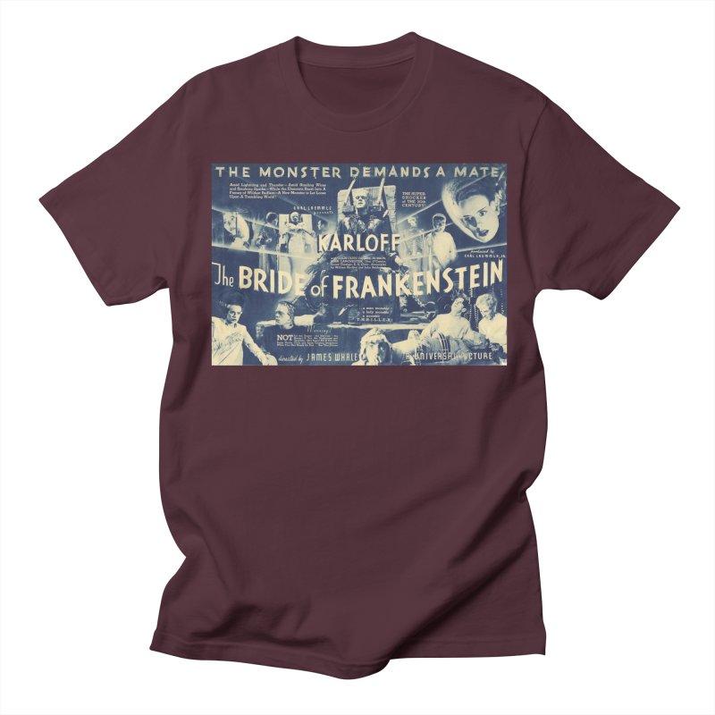 Bride of Frankenstein, vintage horror movie poster Women's Unisex T-Shirt by ALMA VISUAL's Artist Shop