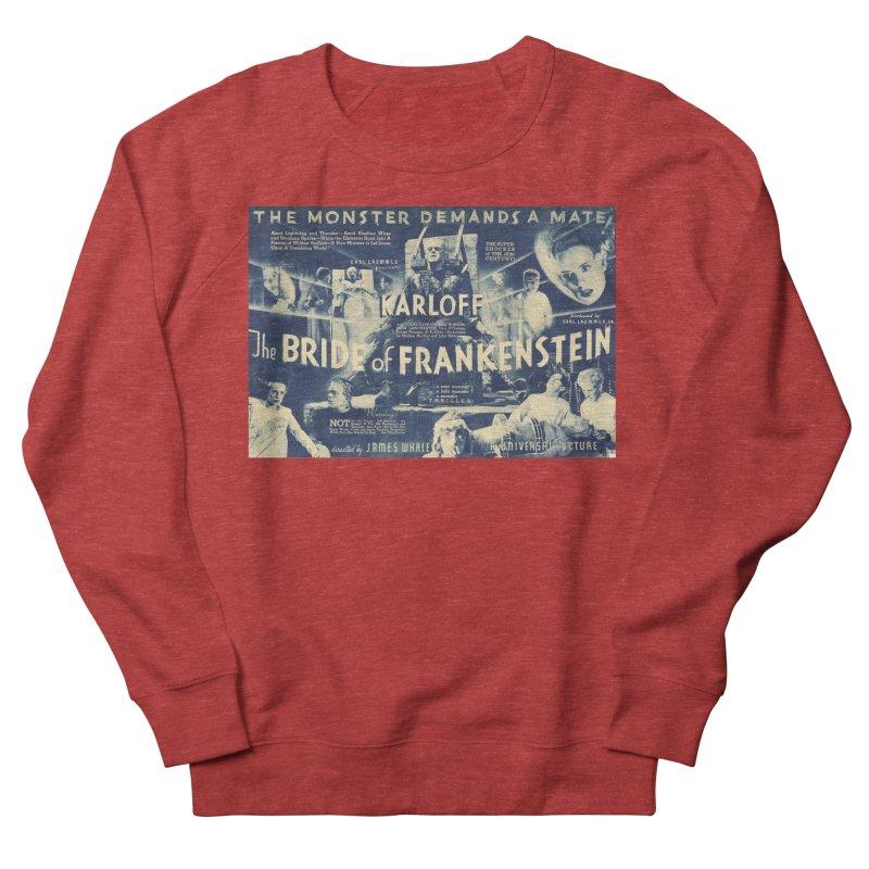 Bride of Frankenstein, vintage horror movie poster Women's Sweatshirt by ALMA VISUAL's Artist Shop
