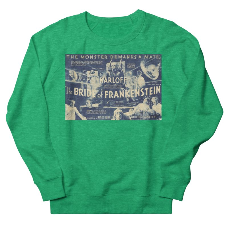 Bride of Frankenstein, vintage horror movie poster Men's Sweatshirt by ALMA VISUAL's Artist Shop