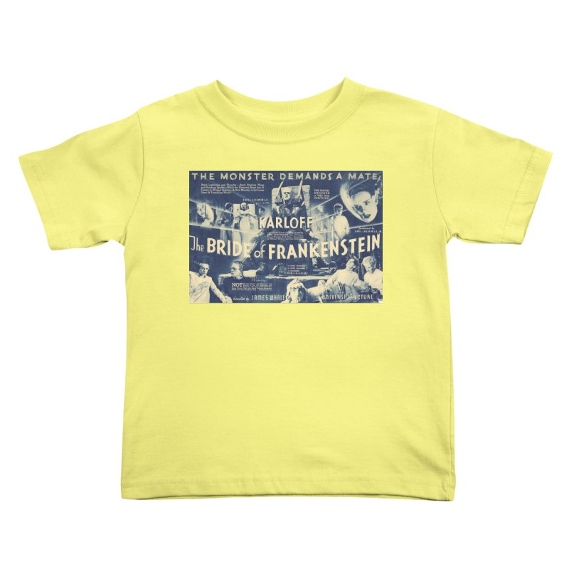 Bride of Frankenstein, vintage horror movie poster Kids Toddler T-Shirt by ALMA VISUAL's Artist Shop