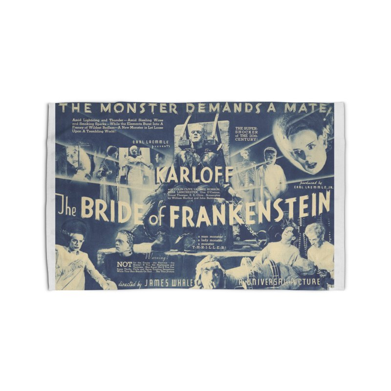 Bride of Frankenstein, vintage horror movie poster Home Rug by ALMA VISUAL's Artist Shop