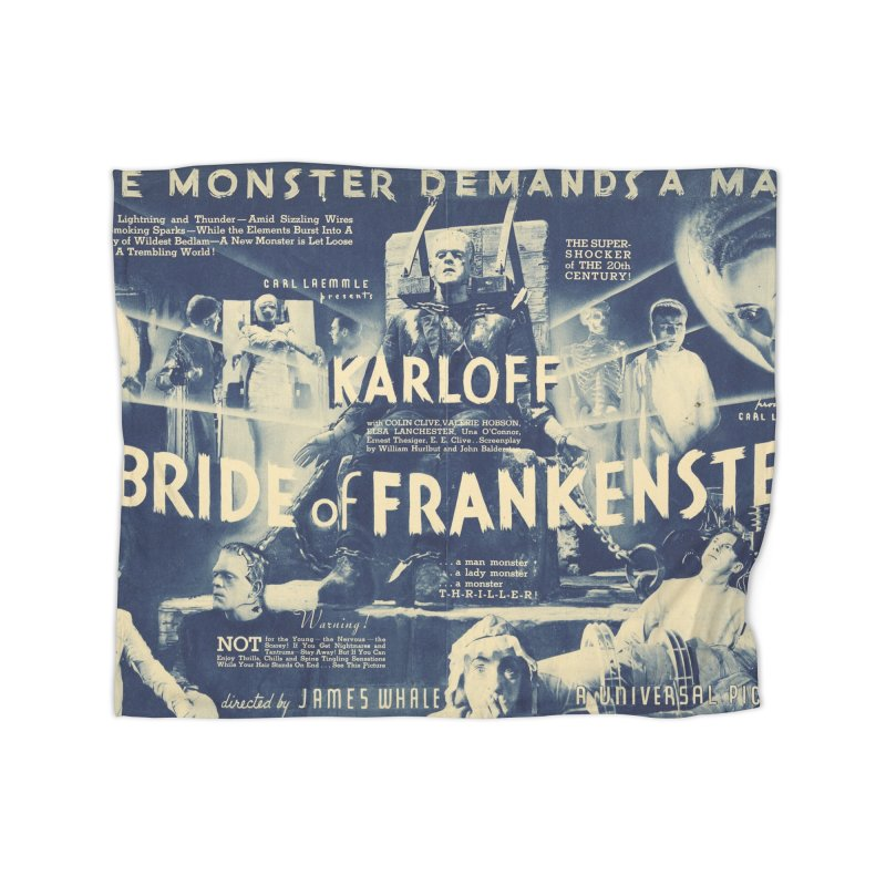 Bride of Frankenstein, vintage horror movie poster Home Blanket by ALMA VISUAL's Artist Shop