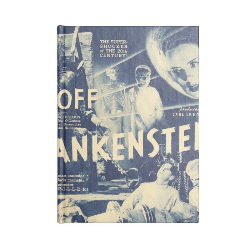 Bride of Frankenstein, vintage horror movie poster Accessories Notebook by ALMA VISUAL's Artist Shop