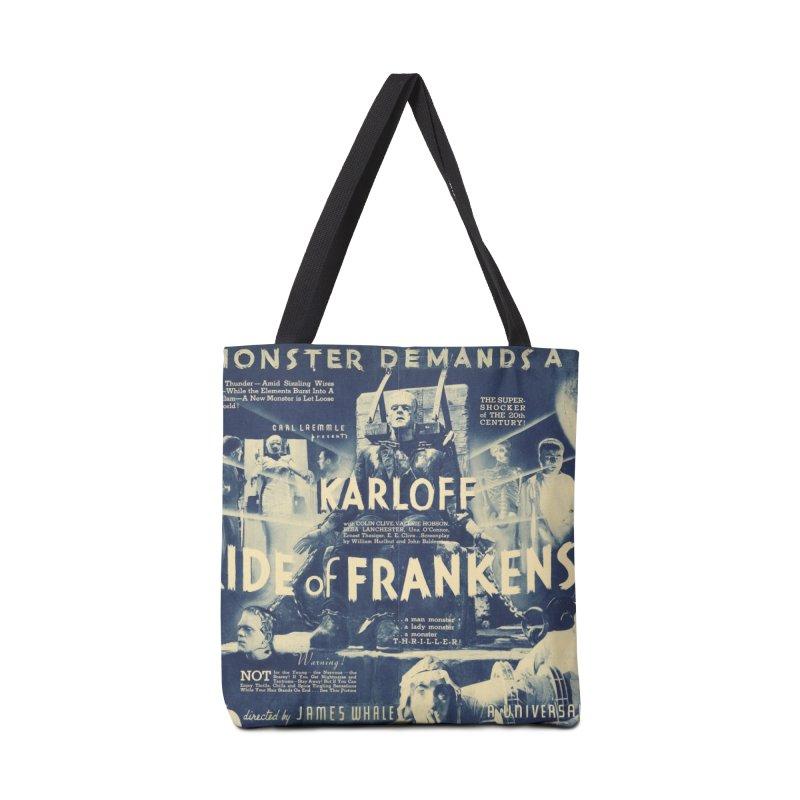 Bride of Frankenstein, vintage horror movie poster Accessories Bag by ALMA VISUAL's Artist Shop