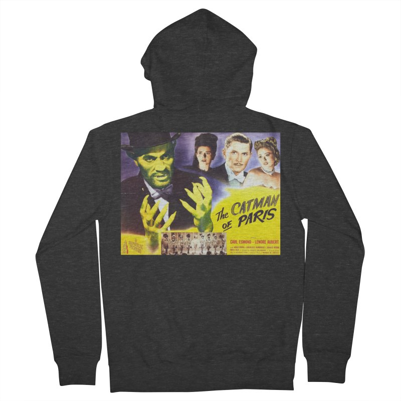 The Catman of Paris, Vintage Horror Movie Poster Women's Zip-Up Hoody by ALMA VISUAL's Artist Shop