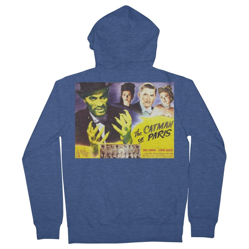 The Catman of Paris, Vintage Horror Movie Poster Men's Zip-Up Hoody by ALMA VISUAL's Artist Shop
