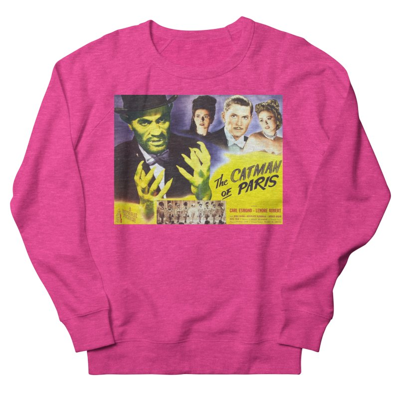 The Catman of Paris, Vintage Horror Movie Poster Men's Sweatshirt by ALMA VISUAL's Artist Shop