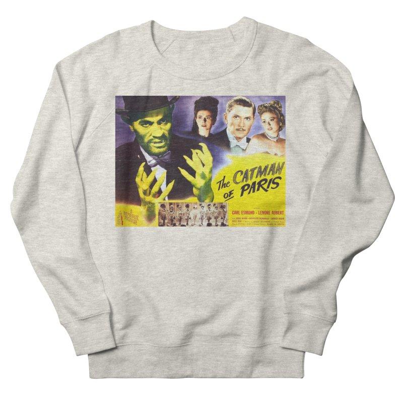 The Catman of Paris, Vintage Horror Movie Poster Men's Sweatshirt by ALMA VISUAL's Artist Shop