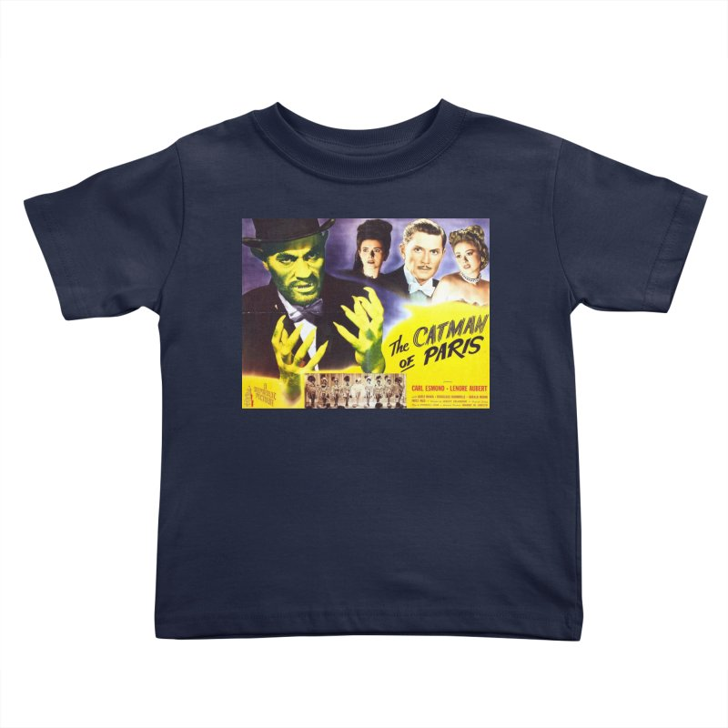 The Catman of Paris, Vintage Horror Movie Poster Kids Toddler T-Shirt by ALMA VISUAL's Artist Shop