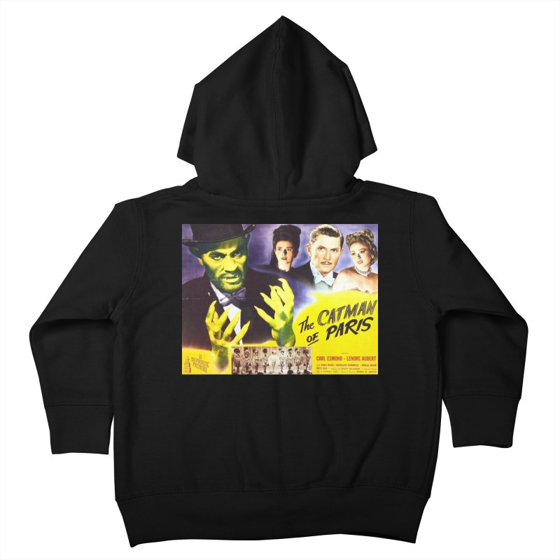 The Catman of Paris, Vintage Horror Movie Poster Kids Toddler Zip-Up Hoody by ALMA VISUAL's Artist Shop