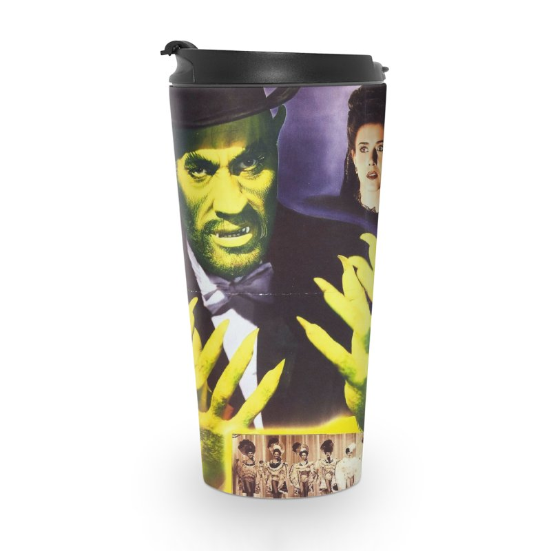 The Catman of Paris, Vintage Horror Movie Poster Accessories Travel Mug by ALMA VISUAL's Artist Shop