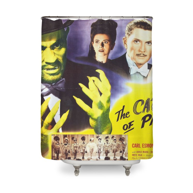 The Catman of Paris, Vintage Horror Movie Poster Home Shower Curtain by ALMA VISUAL's Artist Shop