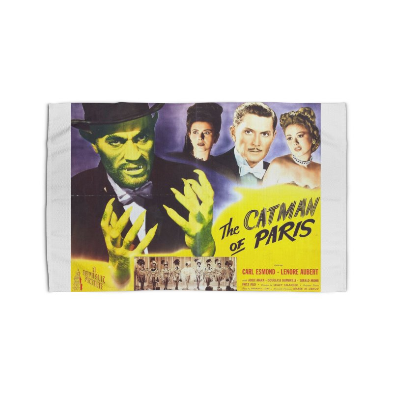 The Catman of Paris, Vintage Horror Movie Poster Home Rug by ALMA VISUAL's Artist Shop