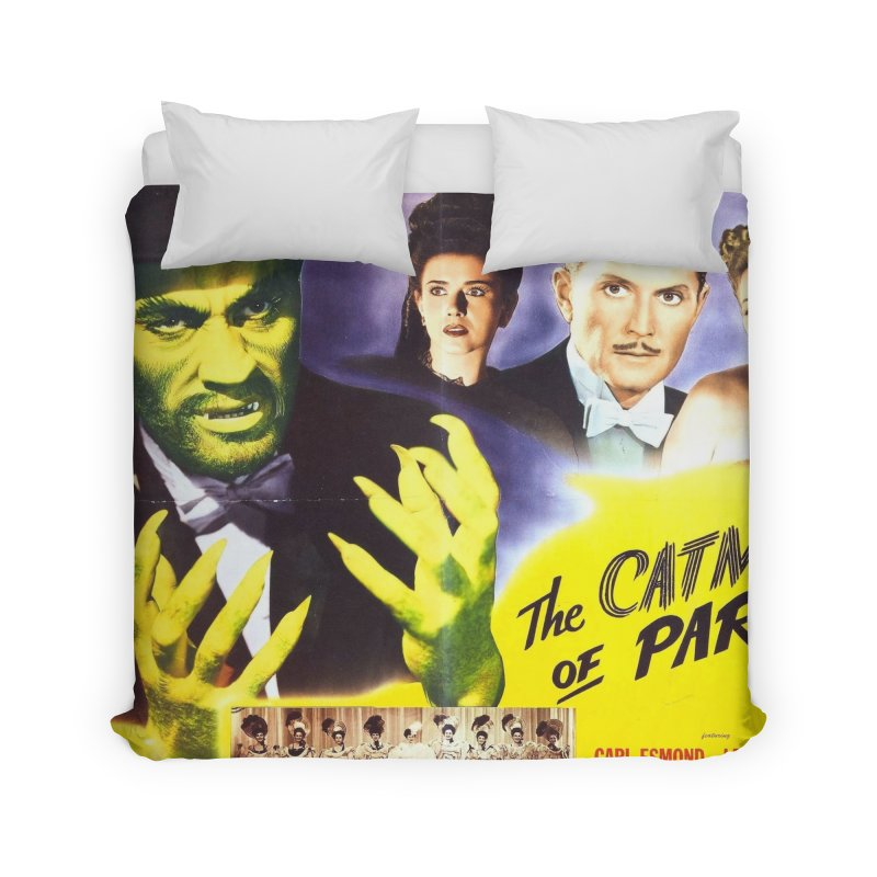 The Catman of Paris, Vintage Horror Movie Poster Home Duvet by ALMA VISUAL's Artist Shop