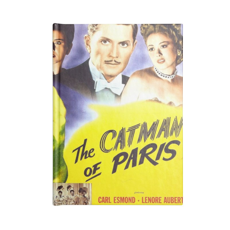 The Catman of Paris, Vintage Horror Movie Poster Accessories Notebook by ALMA VISUAL's Artist Shop