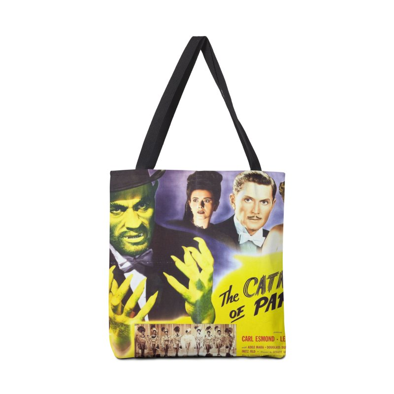 The Catman of Paris, Vintage Horror Movie Poster Accessories Bag by ALMA VISUAL's Artist Shop