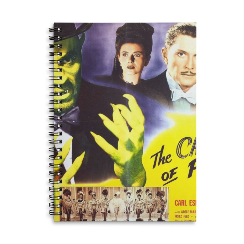 The Catman of Paris, Vintage Horror Movie Poster Accessories Lined Spiral Notebook by ALMA VISUAL's Artist Shop