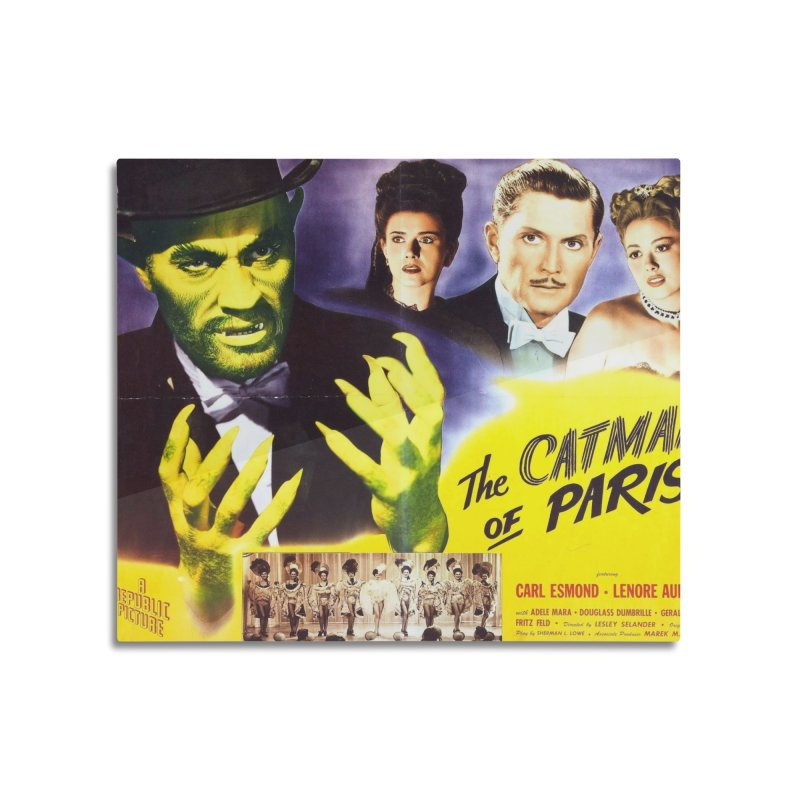 The Catman of Paris, Vintage Horror Movie Poster Home Mounted Aluminum Print by ALMA VISUAL's Artist Shop