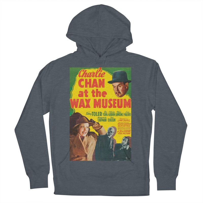 Charlie Chan at the Wax Museum, vintage movie poster Men's French Terry Pullover Hoody by ALMA VISUAL's Artist Shop