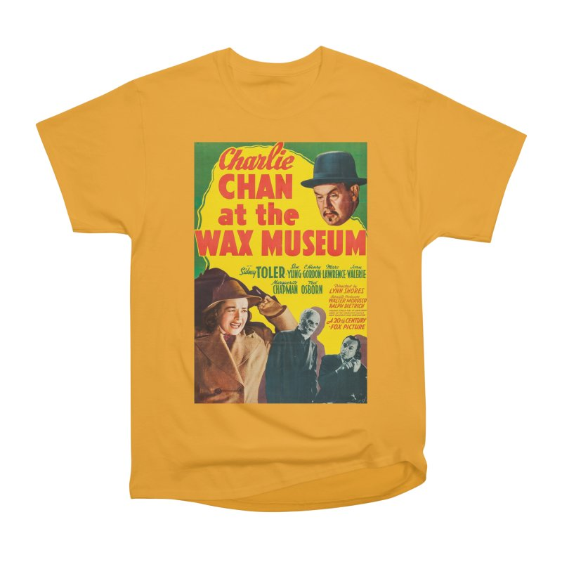 Charlie Chan at the Wax Museum, vintage movie poster Women's Heavyweight Unisex T-Shirt by ALMA VISUAL's Artist Shop