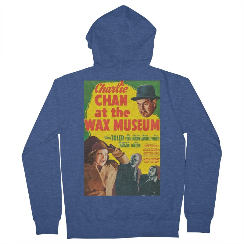 Charlie Chan at the Wax Museum, vintage movie poster Women's French Terry Zip-Up Hoody by ALMA VISUAL's Artist Shop