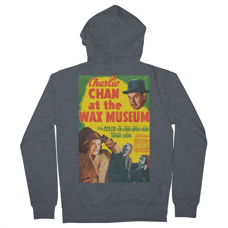 Charlie Chan at the Wax Museum, vintage movie poster Men's Zip-Up Hoody by ALMA VISUAL's Artist Shop